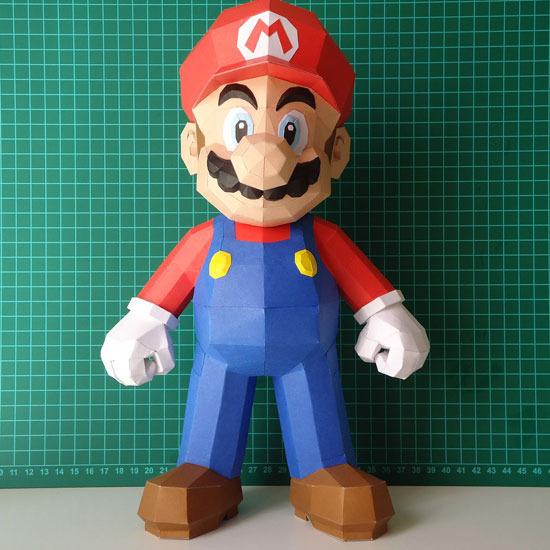 スーパーマリオ キャラクターペーパークラフト