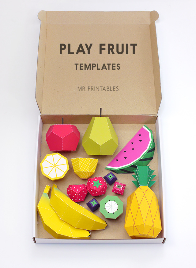 Play Fruit Templates | Mr Printables