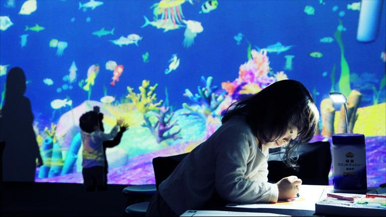 Sketch Aquarium/お絵かき水族館 アトラクション オブ アート チームラボアイランド 学ぶ!未来の遊園地