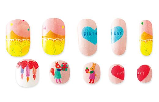 イラストレーター 布川 愛子さんと作った 親子ワークショップ 指をあわせるとひとつの絵になる 親子ネイルシールの会|フェリシモ