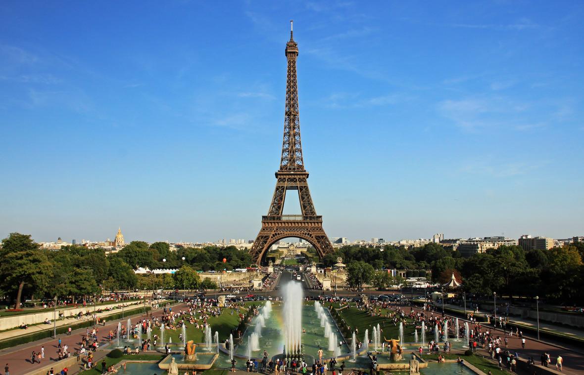 File:Eiffel tower from trocadero.jpg - Wikimedia Commons