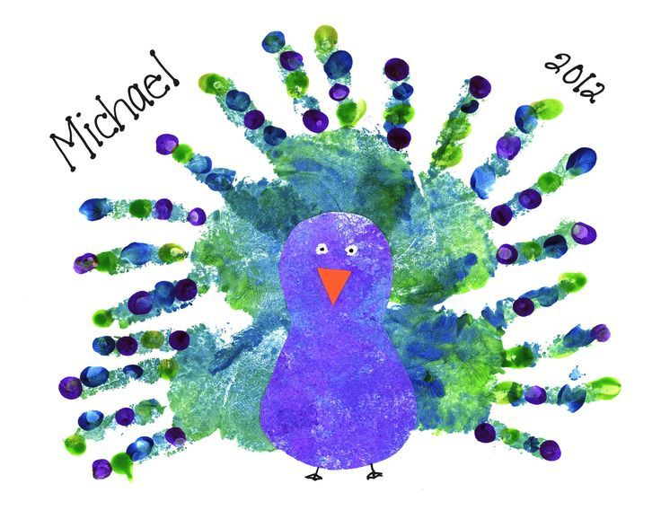 Handprint Peacock | Handprint, Footprint, and Fingerprint Art | Pinterest | クジャク