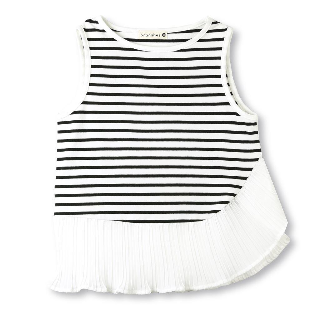 子ども服&ママの服 ブランシェス  公式オンラインショップ|プリーツフリルタンクトップ(90cm オフホワイト): branshes
