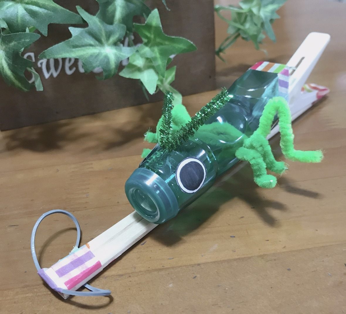 ラムネの空き容器 バッタロケット
